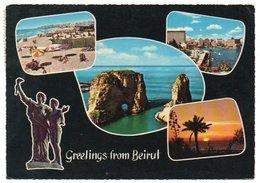 LIBAN/LEBANON - GREETINGS FROM BEIRUT / UN BONJOUR DE BEYROUTH - Libano