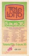 Tele-Lotto 5 Aus 35. Spielscheinabschnitt A. - Lotterielose