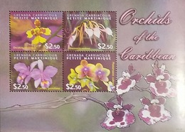 L) 2009 GRENADA, ORCHIDS OF THE CARIBBEAN, FLOWERS, VIOLET, MNH - Grenada (1974-...)
