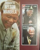 L) 2013 TOGOLESE REPUBLIC, NELSON MANDELA, PEOPLE, 1700F, MNH - Togo (1960-...)