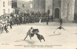 "CPA FRANCE 13 "" Saintes Maries De La Mer, Course Libre Des Taureaux "" - Saintes Maries De La Mer"