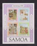 Samoa 1985 Christmas Stevenson Paintings Miniature Sheet  MNH - Samoa