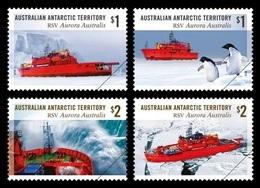 AAT 2018 Mih. 258/61 Ships. Icebreaker RSV Aurora Australis. Fauna. Penguins MNH ** - Neufs