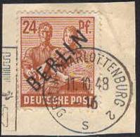 Berlin Poste Obl Yv:  9A Mi:9 Charlottenburg 11-10-48 Fragmt (TB Cachet à Date) - [5] Berlin