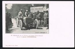 DEGRAIS Sur Sa Voiture De Course PARIS -BERLIN -Pneus CONTINENTAL- Recto Verso-Paypal Sans Frais - Motorsport