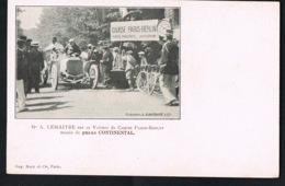A.LEMAITRE Sur Sa Voiture De Course PARIS -BERLIN -Pneus CONTINENTAL- Recto Verso-Paypal Sans Frais - Motorsport