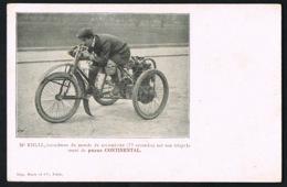 RIGAL - Recordman Du Monde Du Kilomètre (33 Secondes ) Sur Son Tricycle-Pneus CONTINENTAL- Recto Verso-Paypal Sans Frais - Motociclismo