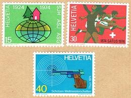 ** LA SERIE NEUF 1974 C/.S.B.K. Nr:548/550. Y&TELLIER Nr:947/949. MICHEL Nr:1017/1019. ** - Suisse