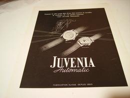 ANCIENNE PUBLICITE MONTRE AUTOMATIC JUVENIA 1950 - Autres