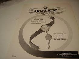 PUBLICITE AFFICHE MONTRE PERPETUAL EN OR DE ROLEX 1950 - Autres