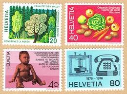 ** LA SERIE NEUF 1976 C/.S.B.K. Nr:572/575. Y&TELLIER Nr:999/1002. MICHEL Nr:1069/1072. ** - Suisse