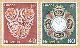 ** EUROPA  LA SERIE NEUFS 1976 C/.S.B.K. Nr:576/577. Y&TELLIER Nr:1003/1004. MICHEL Nr:1073/1074. ** - Suisse