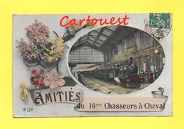 CPA 21 BEAUNE Amitiés Du 16 éme Chasseurs à Cheval 1909 ( Train En Gare ) - Beaune