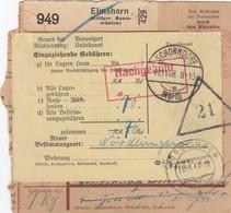 Paketkarte 1948: Elmshorn-Schorndorf, Nachnahme, Selbstbucher Kölner Baumschulen - American,British And Russian Zone