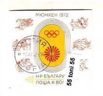 Bulgaria / Bulgarie /Bulgarije 1972 Olympic Games – Munchen S/S- Used/oblitere (O) - Gebraucht