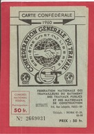 CARTE CGT  1960 - Syndicats