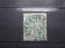 "VEND TIMBRE DE FRANCE N° 111 , CACHET "" STEEWERCK "" !!! - 1900-29 Blanc"