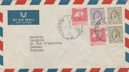 JORDANIE LETTRE COVER AMMAN 25/2/1950 POUR FRANCE CANNES - Jordanie