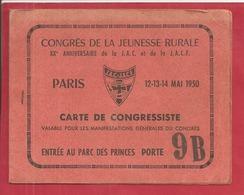 CONGRES DE LA JEUNESSE JAC 1950 - Cartes Postales