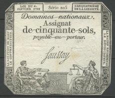1792 Frankreich 50 Sols Assignat - Assignats & Mandats Territoriaux