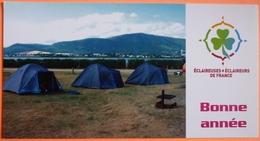 CARTE ECLAIREUSES ECLAIREURS DE FRANCE - BONNE ANNEE - SCOUTISME - CAMPING - 6 - Scoutisme