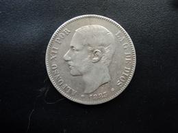 ESPAGNE : 5 PESETAS   1883 MS - M (/8) (//) Tranche B *  KM 688    B+ - [ 1] …-1931 : Royaume