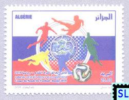 Algeria Stamps 2018, FIFA World Cup, Russia, Football, MNH - Algeria (1962-...)