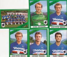 °°° Figurine Calciatori Sampdoria 1987/88 N. 250x2 249-2260-263-265 °°° - Altre Collezioni
