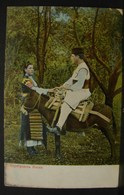 JFC. 208. Sophia. Homme En Costume Traditionnel Sur Un âne Et Tenant La Main D'une Aussi En Costume - Bulgarie