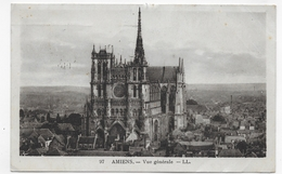 (RECTO / VERSO) AMIENS EN 1935 - N° 97 - VUE GENERALE - BELLE FLAMME - CPA VOYAGEE - Amiens