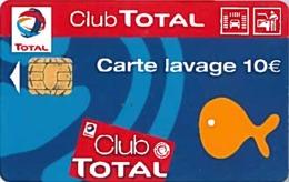 # Carte A Puce Portemonnaie Lavage Total - Poisson - Carte De Lavage 10 Euros - Tres Bon Etat - - Frankrijk