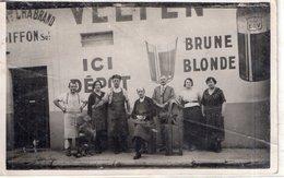"""CARTE PHOTO  """"Dépôt DE BIERE 1935 à VILLEFRANCHE - Villefranche-sur-Saone"""