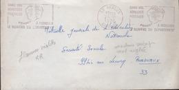 Curiosité Sur Lettre En Franchise Postale 33 Bégles 26-11 1970, Empreinte Violette, Machine Déréglée - Variedades Y Curiosidades