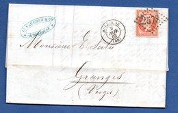 Lettre   / De Mulhouse /  Pour Granges   / 9 Novembre 1863 - Postmark Collection (Covers)