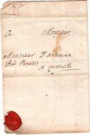 Letre  1735 Envoyée D' AIX à MARSEILLE  Rue Paradis - Marcofilie (Brieven)