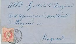 Italy Trieste 1871 / Letter Sent To Ragusa (Dubrovnik) - 1861-78 Victor Emmanuel II.