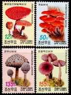 North Korea  2008 Stamps Mushroom 4v - Paddestoelen
