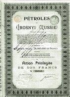 PÉTROLES De GROSNYI  (Russie) - Pétrole