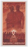 DT- Reich (003736) Propaganda WHW Wintewrhilfswerk Türblatt, Opferwille Entscheidet, 1935/ 36 - Germany