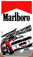 Autocollant Publicitaire Cigarettes Marlboro Championnat De France Des Voitures De Production - Alfa Roméo - Rouen 1984 - Autocollants