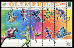 B-397 Sidney Australia, Olympic Games 2004. Olympic Stamps - Block MNH - Australie