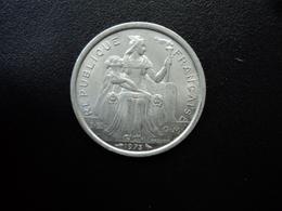 POLYNÉSIE FRANÇAISE : 2 FRANCS    1973     G.25 / KM 10    SUP+ - Polynésie Française