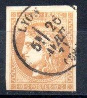 France Frankreich Y&T 43B° - 1870 Ausgabe Bordeaux