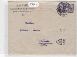 Lebanon-Grand Liban Superb Commercial Cover OMF -SYRIE,Beirut 1921 ,with VERY RARE Cancelat.(40)PE/LD Beirut-never Seen - Laos