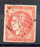 France Frankreich Y&T 48c° (rouge-orange) - 1870 Emission De Bordeaux