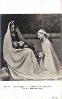 SALON DE 1907  LE SOMMEIL DE L'ENFANT JESUS  PAR Mlle MADELEINE SMITH - Peintures & Tableaux