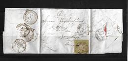 Altdeutschland Württemberg → Brief Neckarsulm Nach Nürnberg 1858   ►RRR◄ - Wuerttemberg