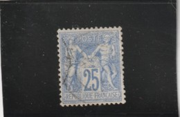 Type Sage N° 68 Outremer 25 Cts Type I Centrage Parfait Quelques Dents Courtes Côte 90€ Non Compté Plus Value Centrage - 1876-1878 Sage (Type I)