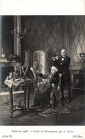 SALON DE 1908  LOISIRS DE MONSEIGNEUR PAR A. WEBER - Peintures & Tableaux