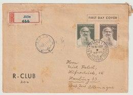 MiNr. 840 - 841  Tschechoslowakei / 1953, 29. Dez. 125. Geburtstag Von Lew Tolstoj. - Tschechoslowakei/CSSR